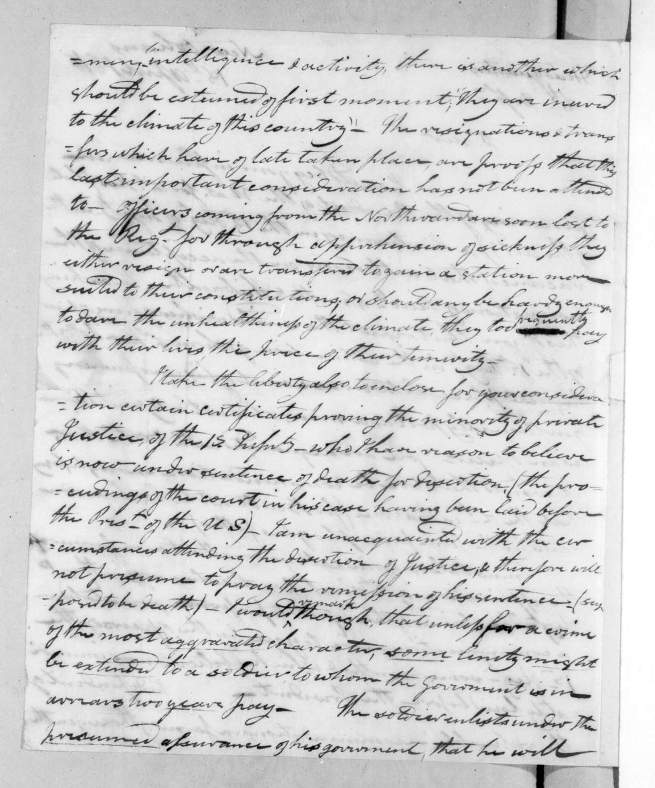 George Croghan to Andrew Jackson, April 18, 1816