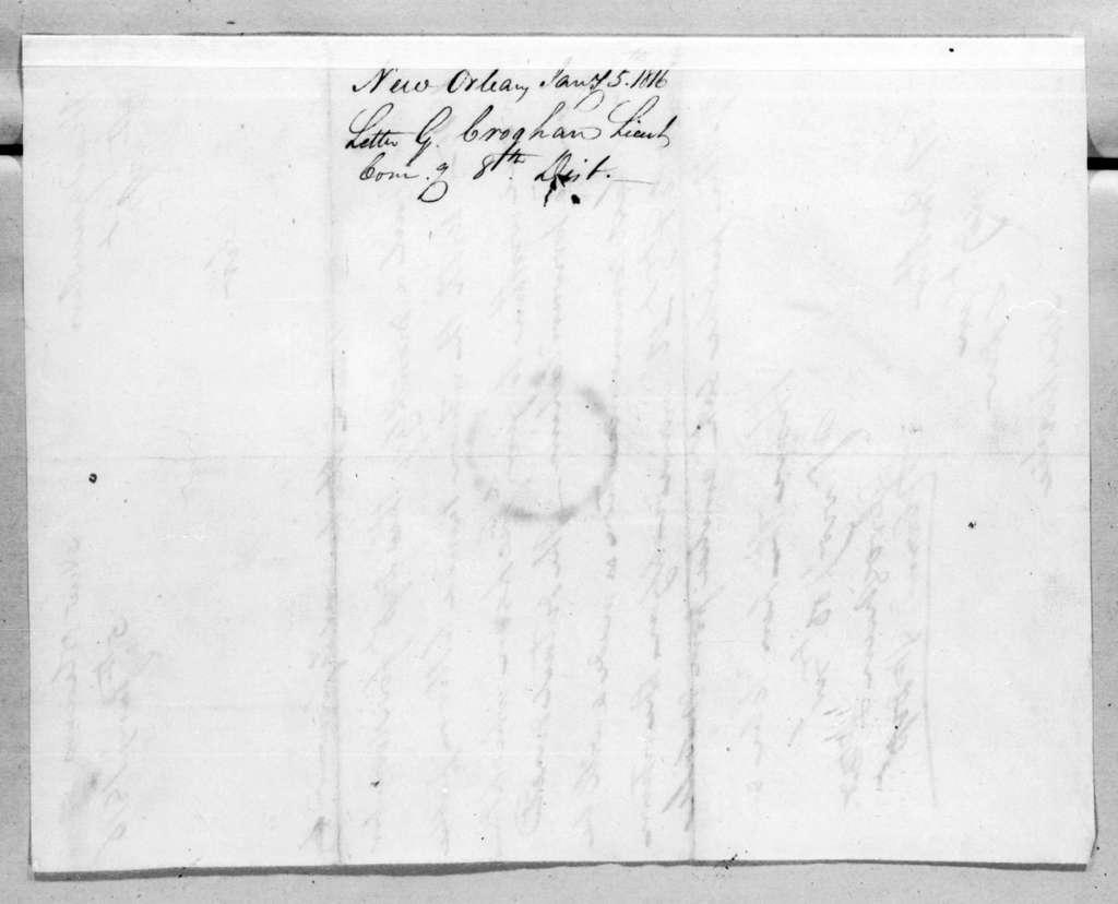 George Croghan to Robert Butler, January 5, 1816