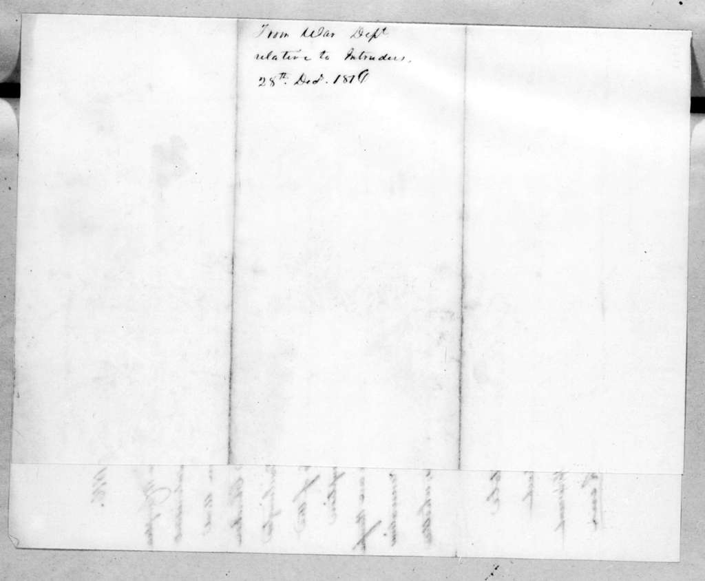 George Graham to Andrew Jackson, December 28, 1816