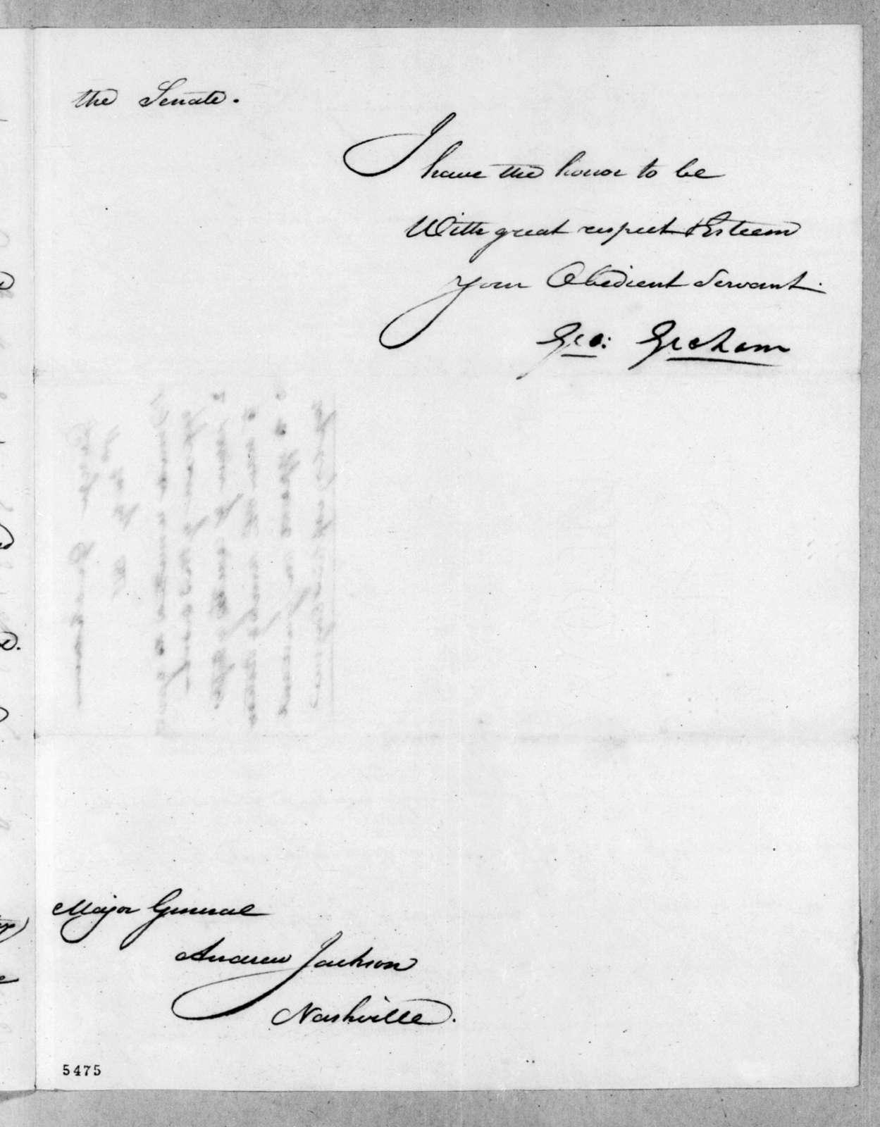 George Graham to Andrew Jackson, July 11, 1816