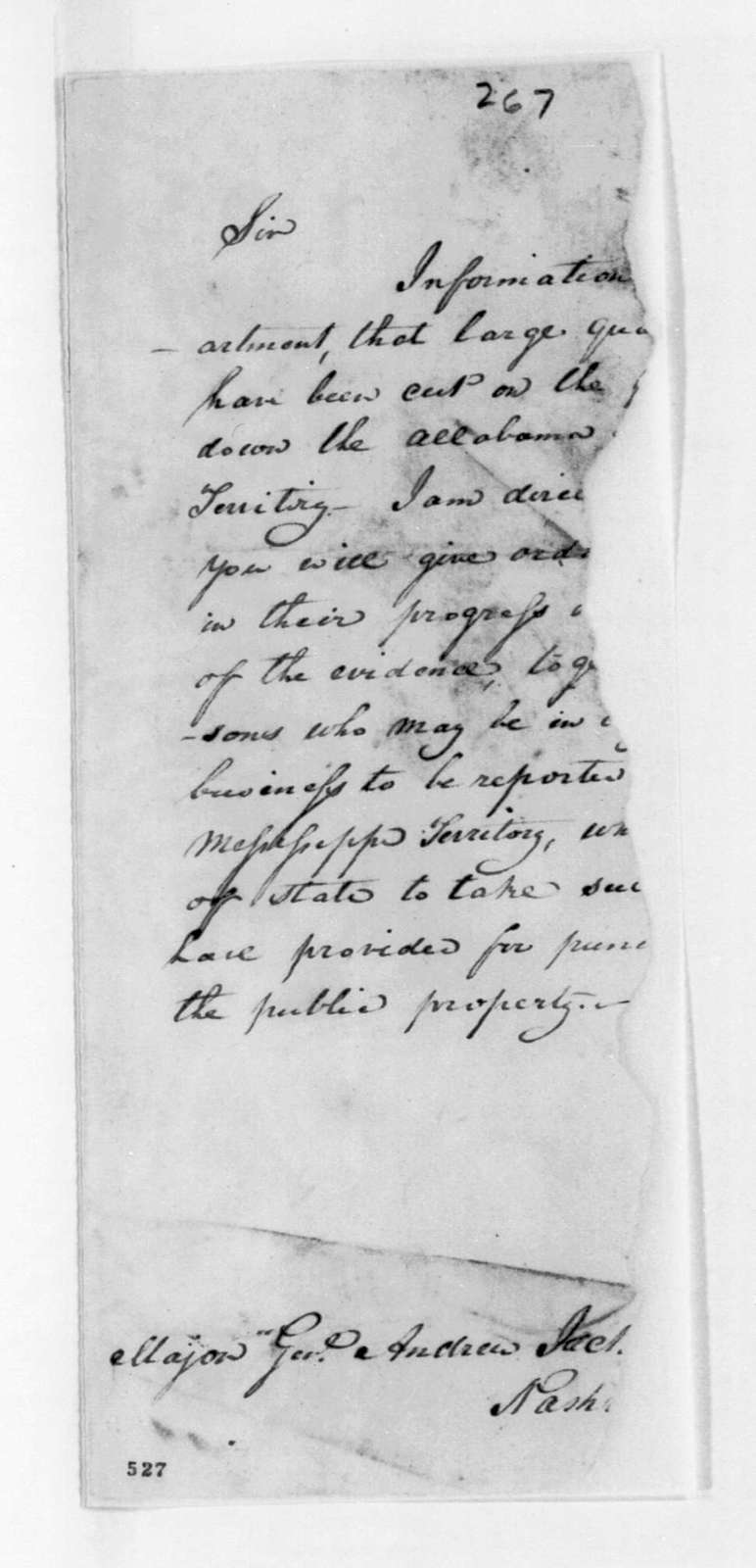 George Graham to Andrew Jackson, November 4, 1816