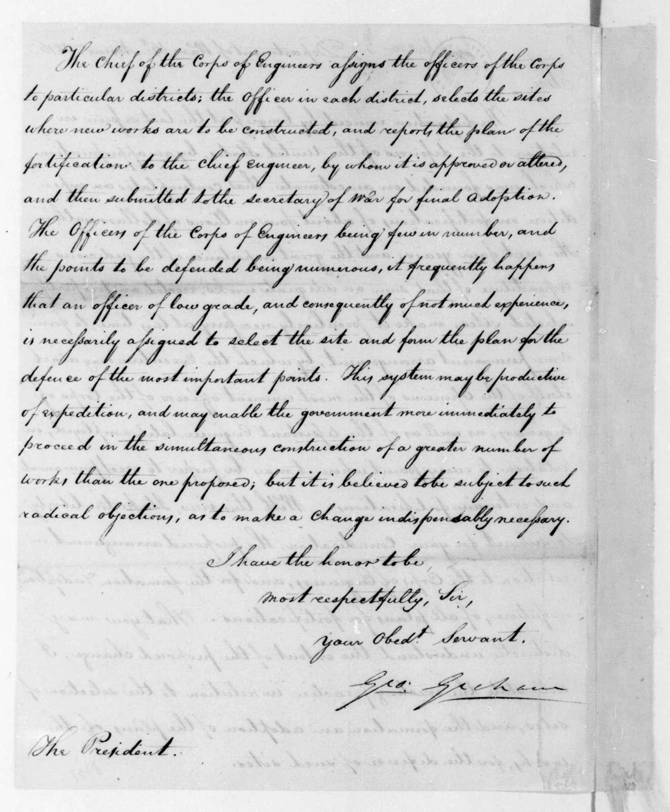 George Graham to James Madison, November 14, 1816.