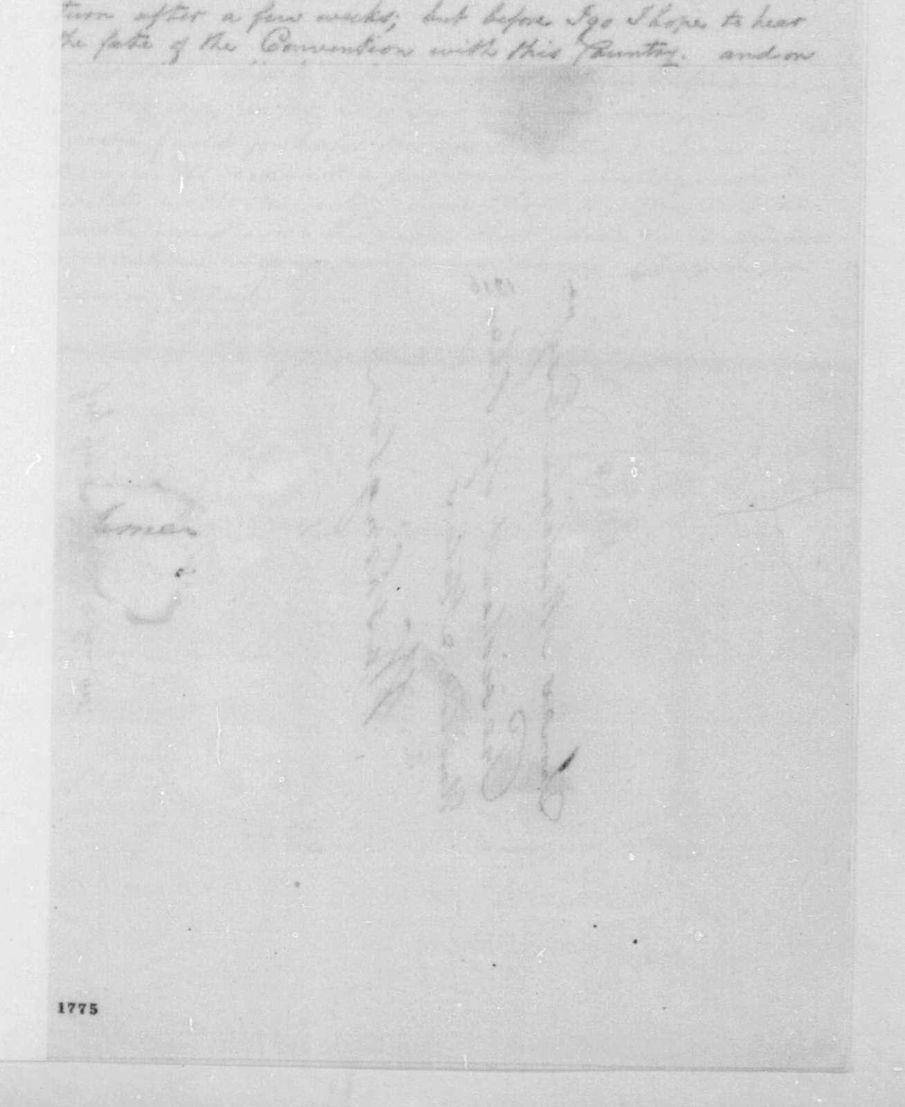 George Joy to James Madison, January 9, 1816.
