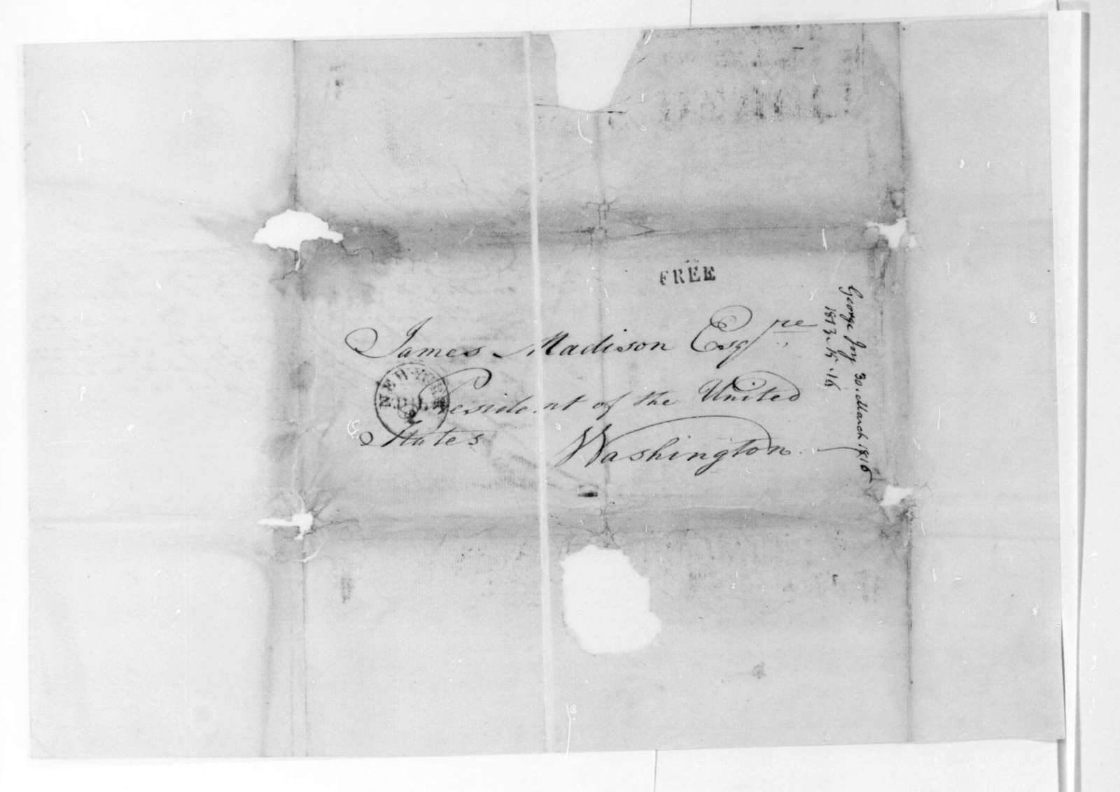 George Joy to James Madison, March 30, 1816.