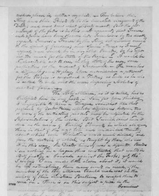 George Joy to John T. Kirkland, February 22, 1816.