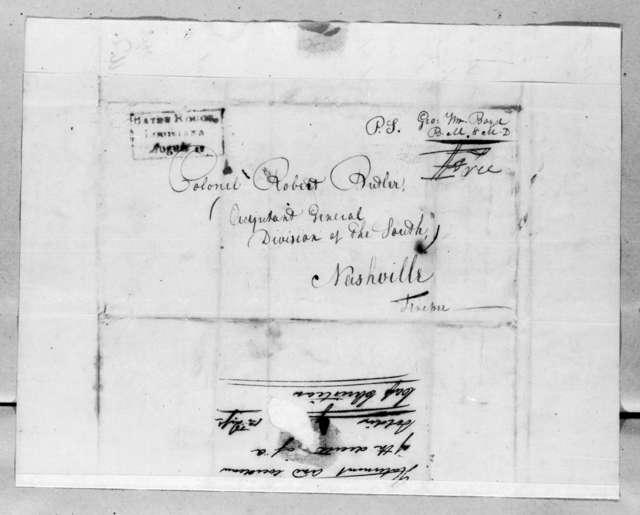 George William Boyd to Robert Butler, August 15, 1816