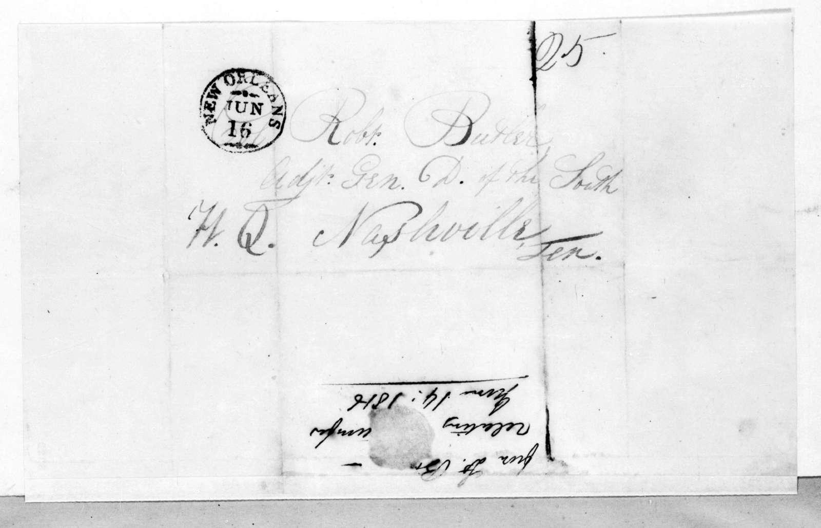 George William Boyd to Robert Butler, June 14, 1816