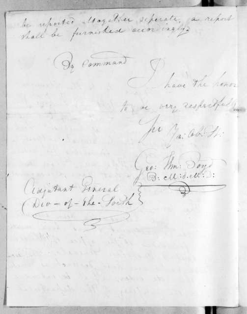 George William Boyd to Unknown, September 28, 1816