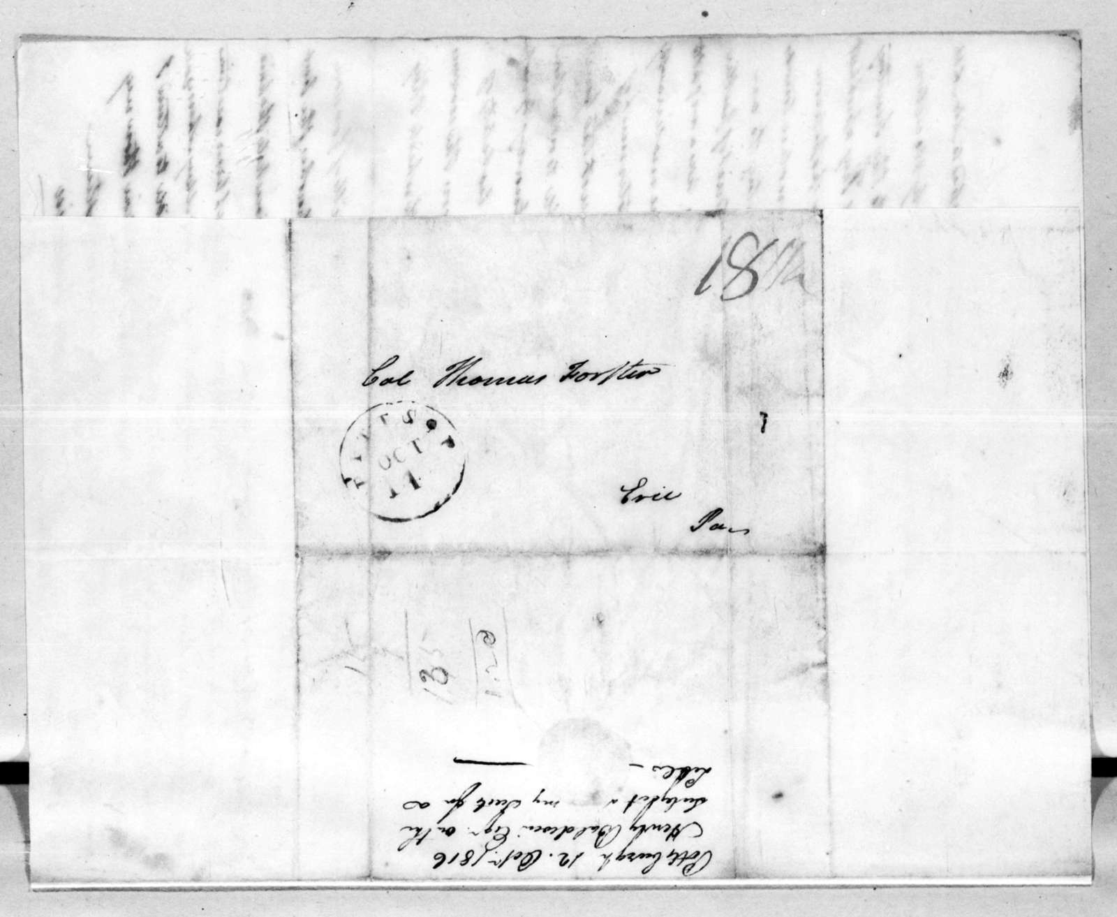 Henry Baldwin to Thomas Forster, October 12, 1816