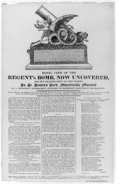 Hone's view of the Regent's bomb, now uncovered, ...