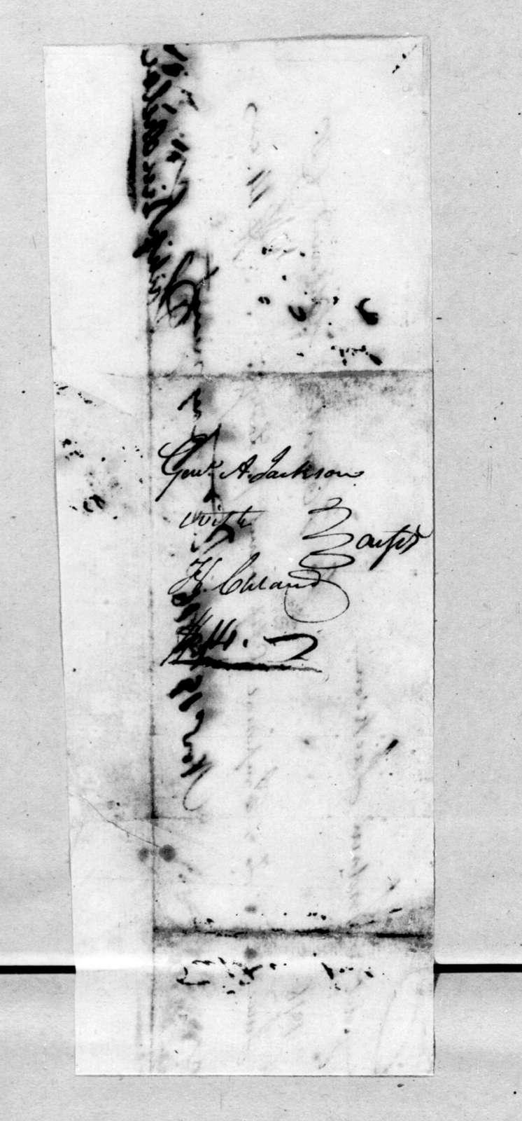 Horatio Cleland to Andrew Jackson, November 19, 1816