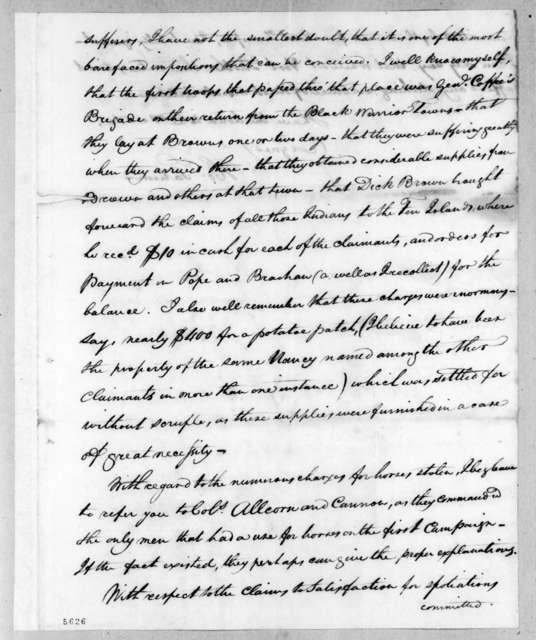 Howell Tatum to Andrew Jackson, July 26, 1816