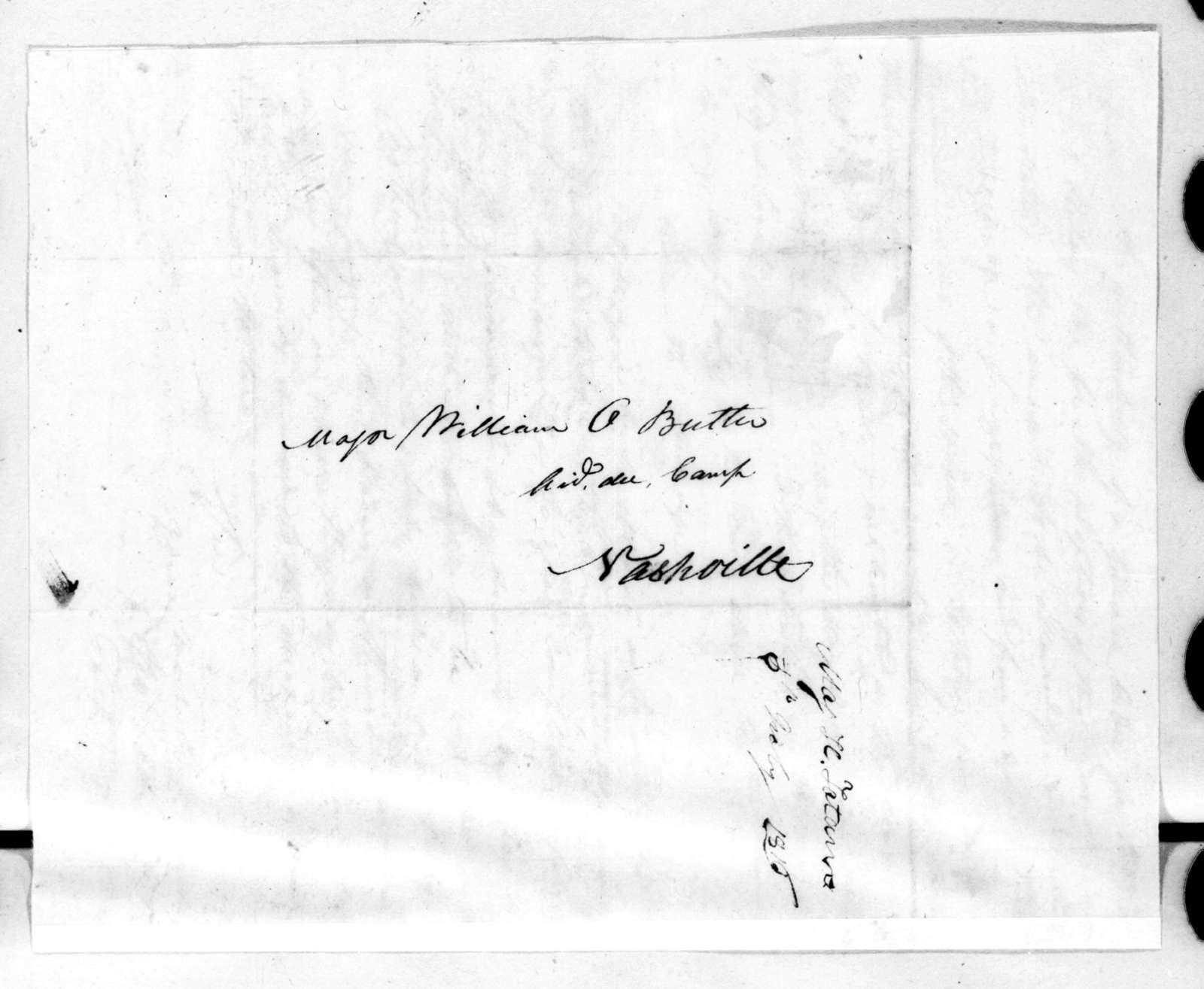 Howell Tatum to William Orlando Butler, July 5, 1816