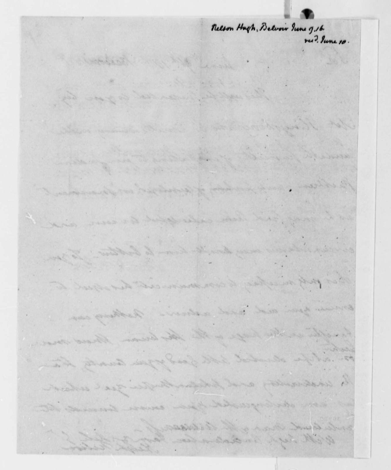 Hugh Nelson to Thomas Jefferson, June 9, 1816