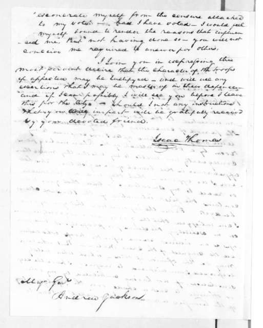 Isaac Thomas to Andrew Jackson, August 12, 1816