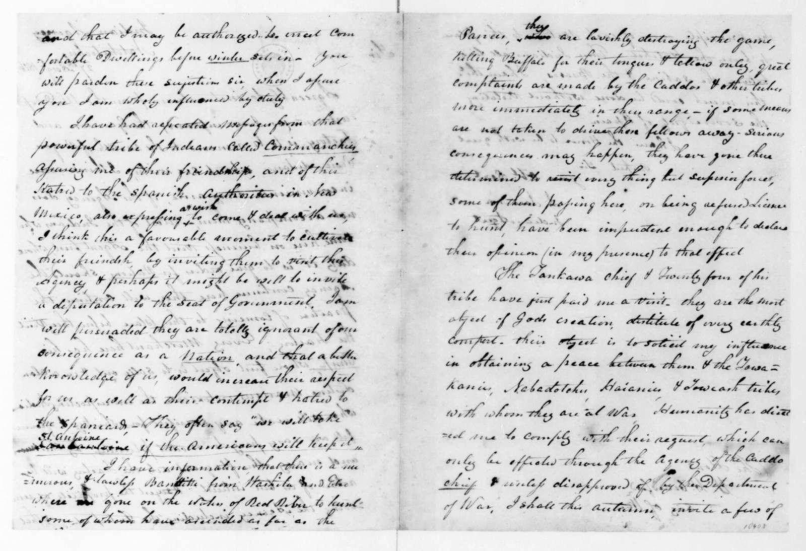 J. Jamison to William H. Crawford, August 27, 1816.