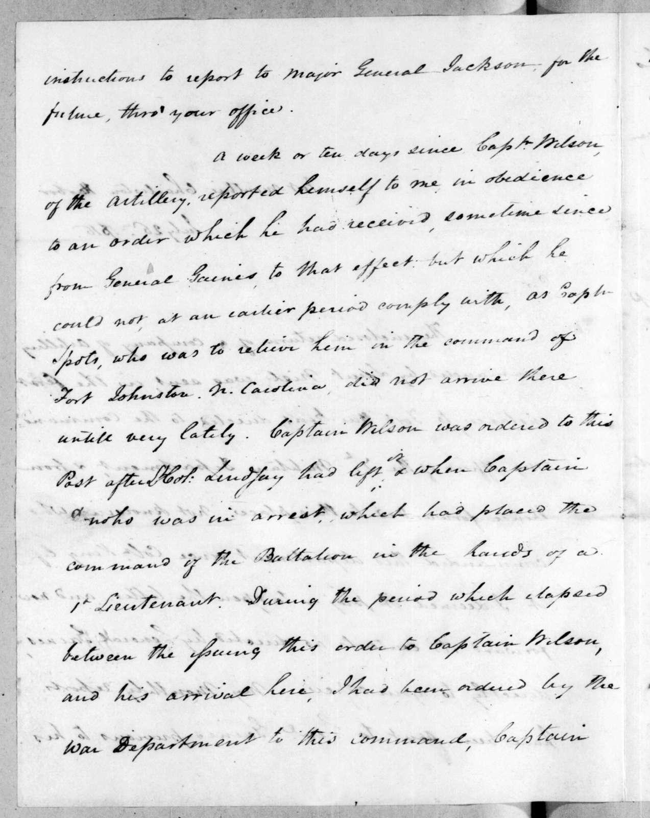 James Bankhead to Robert Butler, July 26, 1816
