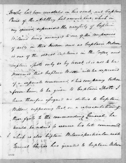 James Bankhead to Robert Butler, July 26, 1816