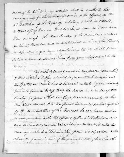 James Bankhead to Robert Butler, September 9, 1816