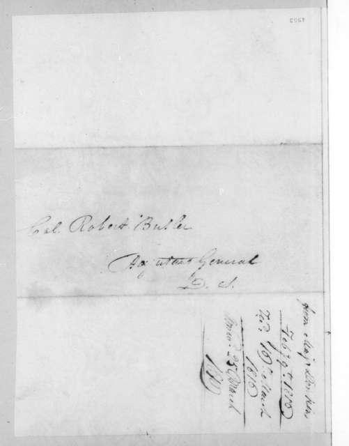 James Edward Dinkins to Robert Butler, February 19, 1816