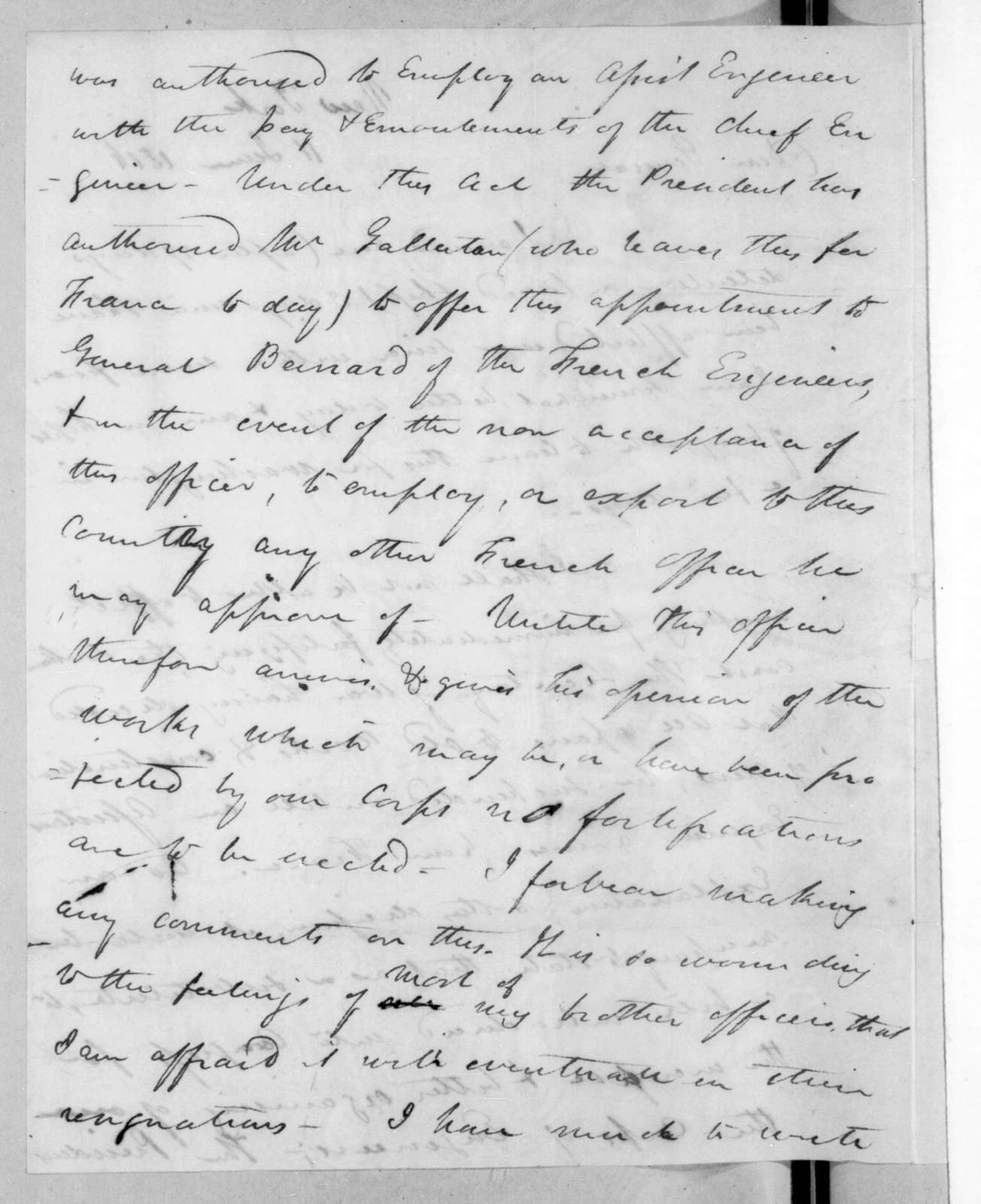 James Gadsden to Andrew Jackson, June 11, 1816