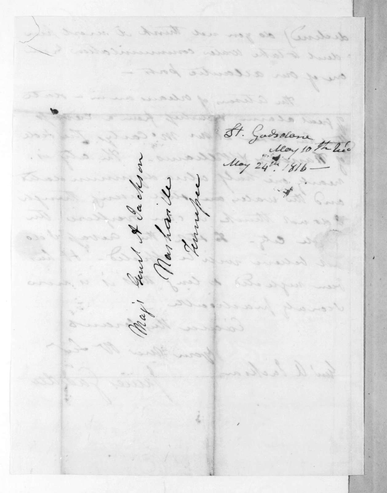 James Gadsden to Andrew Jackson, May 10, 1816