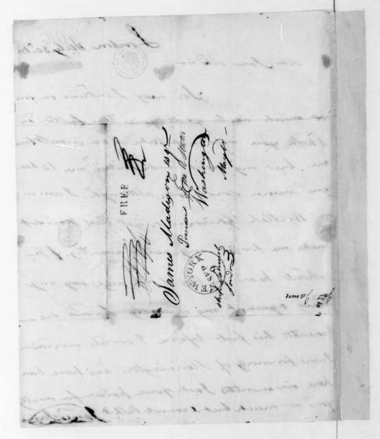 James Jarvis to James Madison, July 30, 1816.
