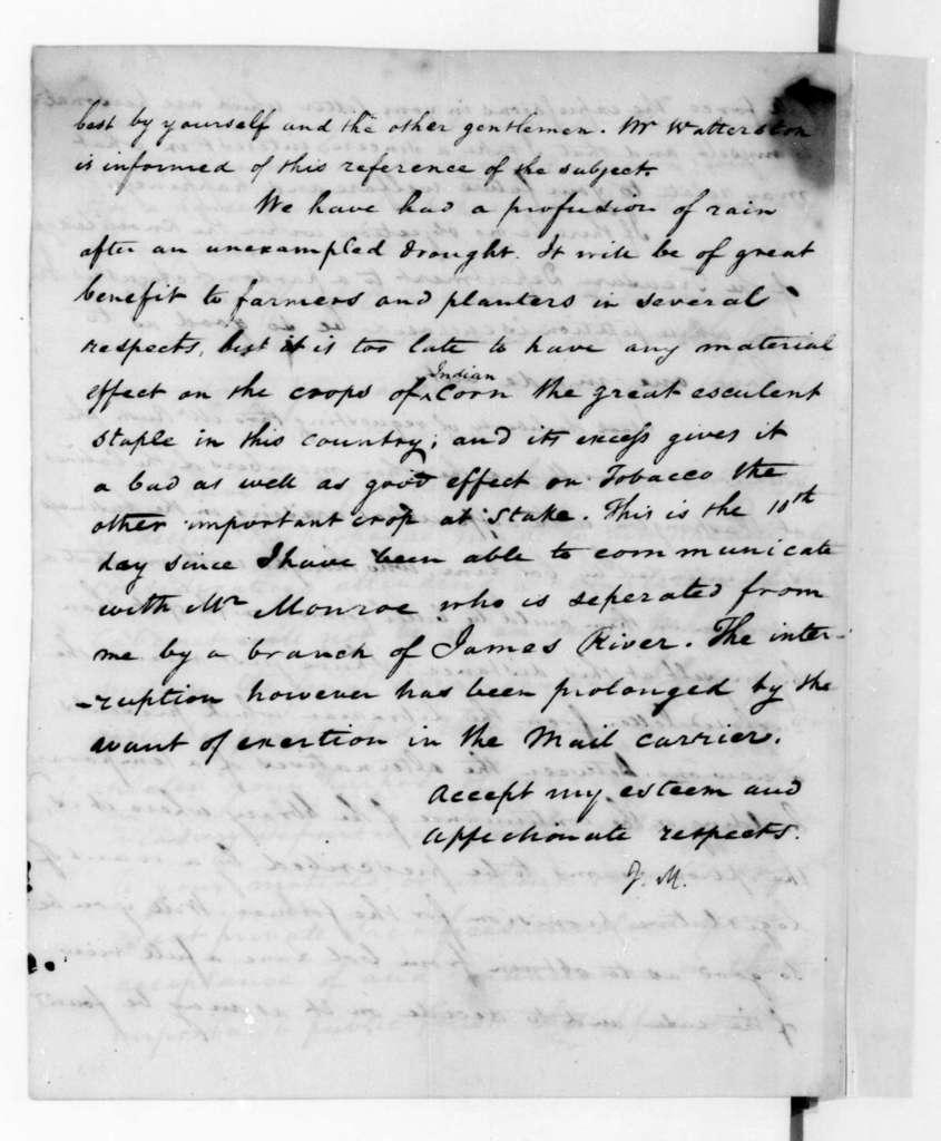 James Madison to Alexander J. Dallas, September 15, 1816.