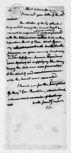 James Madison to Elbert Anderson Jr., October 22, 1816.