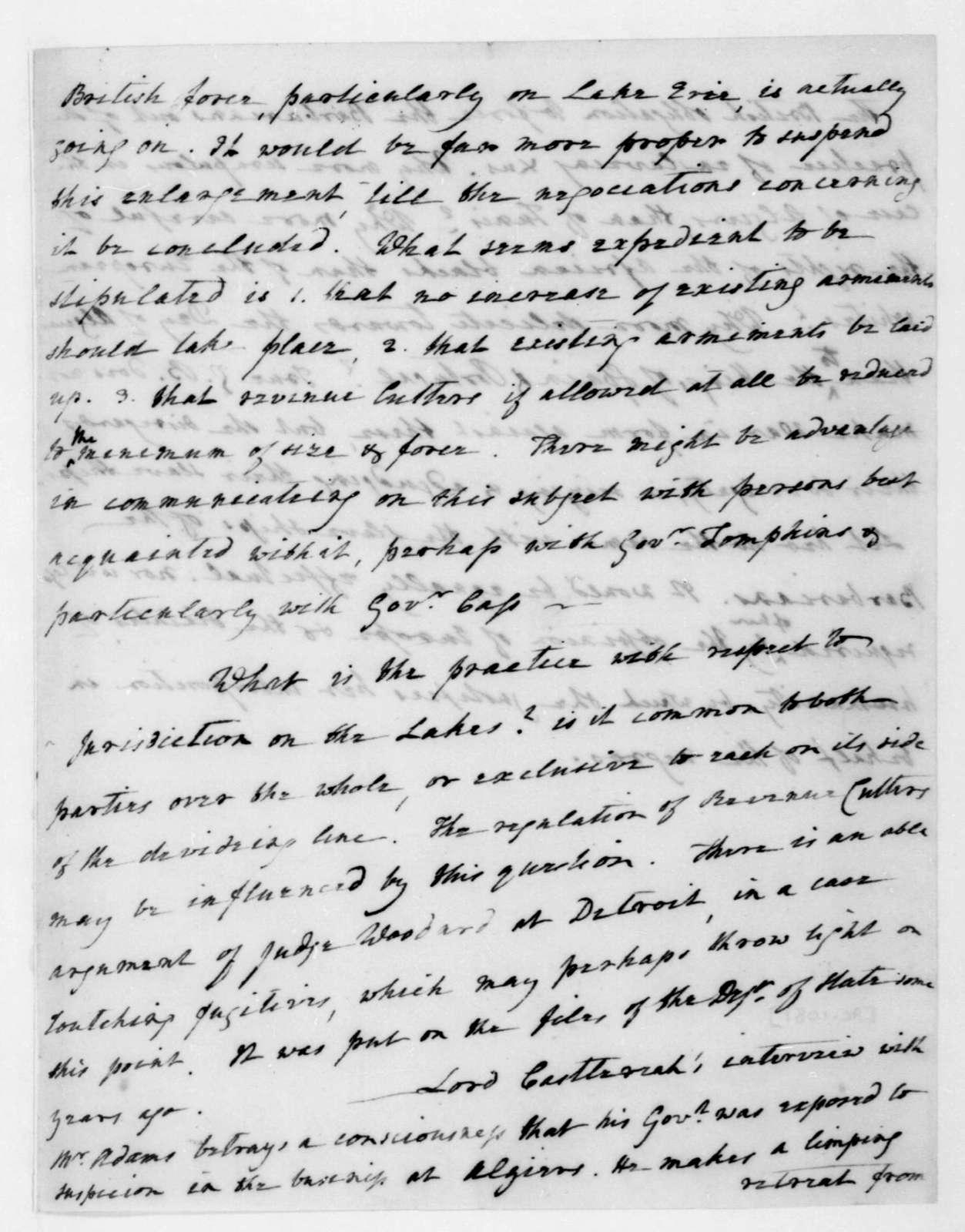 James Madison to James Monroe, July 11, 1816.
