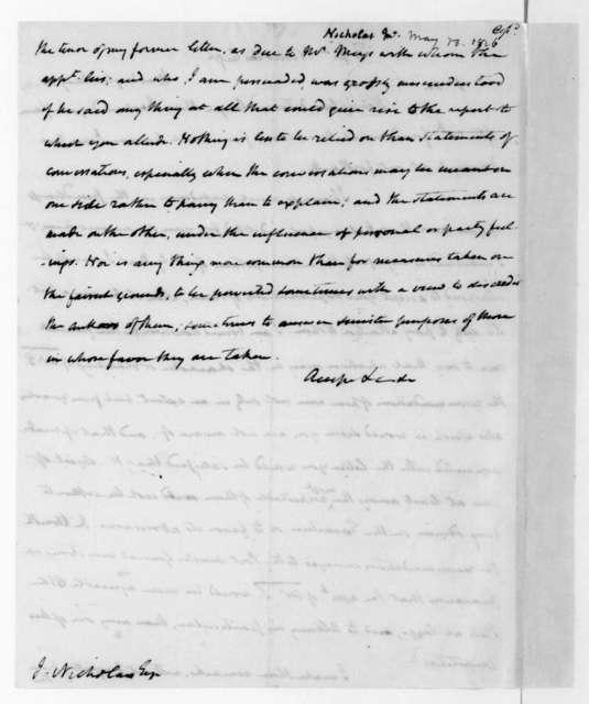 James Madison to John Nicholas, May 30, 1816.