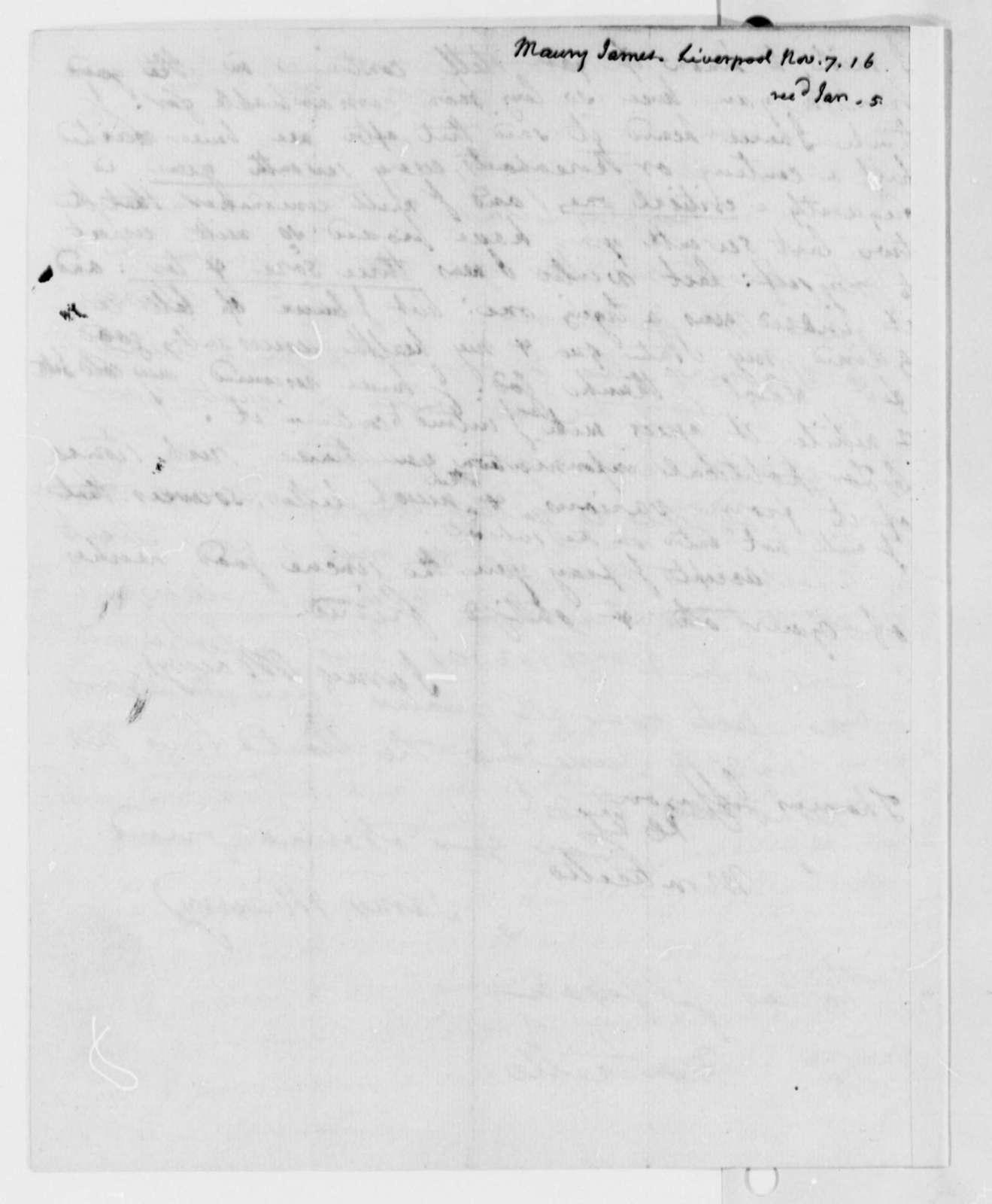 James Maury to Thomas Jefferson, November 7, 1816