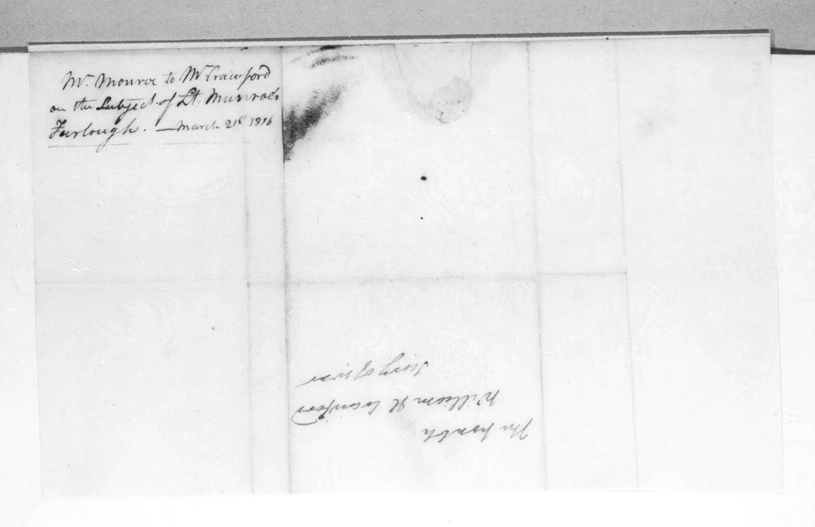 James Monroe to William Harris Crawford, March 21, 1816