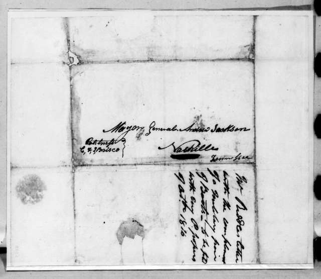 James Riddle to Andrew Jackson, July 18, 1816