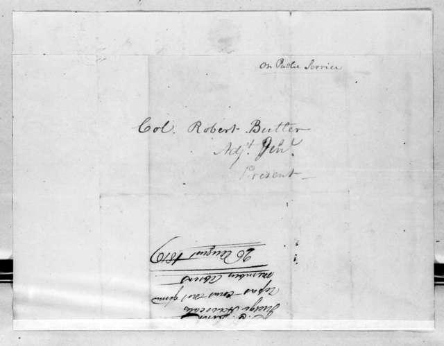 James T. Dent to Robert Butler, August 26, 1816