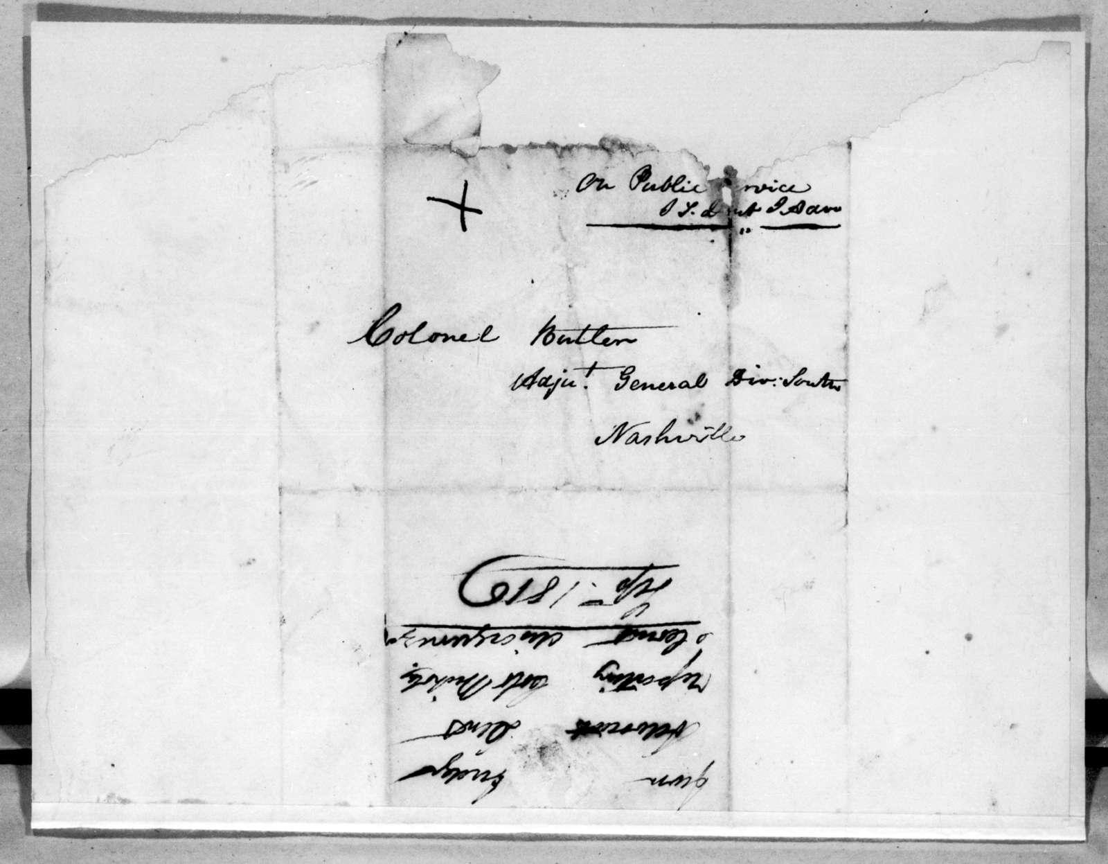 James T. Dent to Robert Butler, September 19, 1816