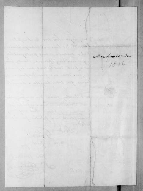 Jean Cherbonnier to Andrew Jackson, March 26, 1816