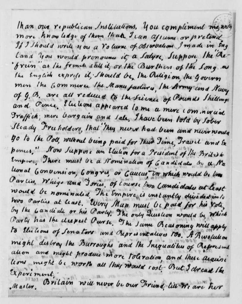 John Adams to Thomas Jefferson, December 16, 1816
