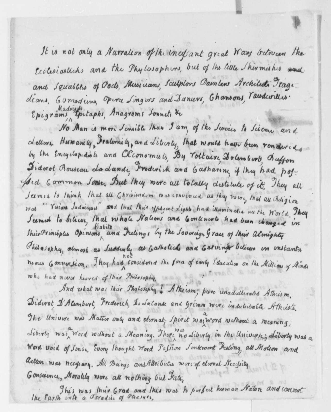 John Adams to Thomas Jefferson, March 2, 1816