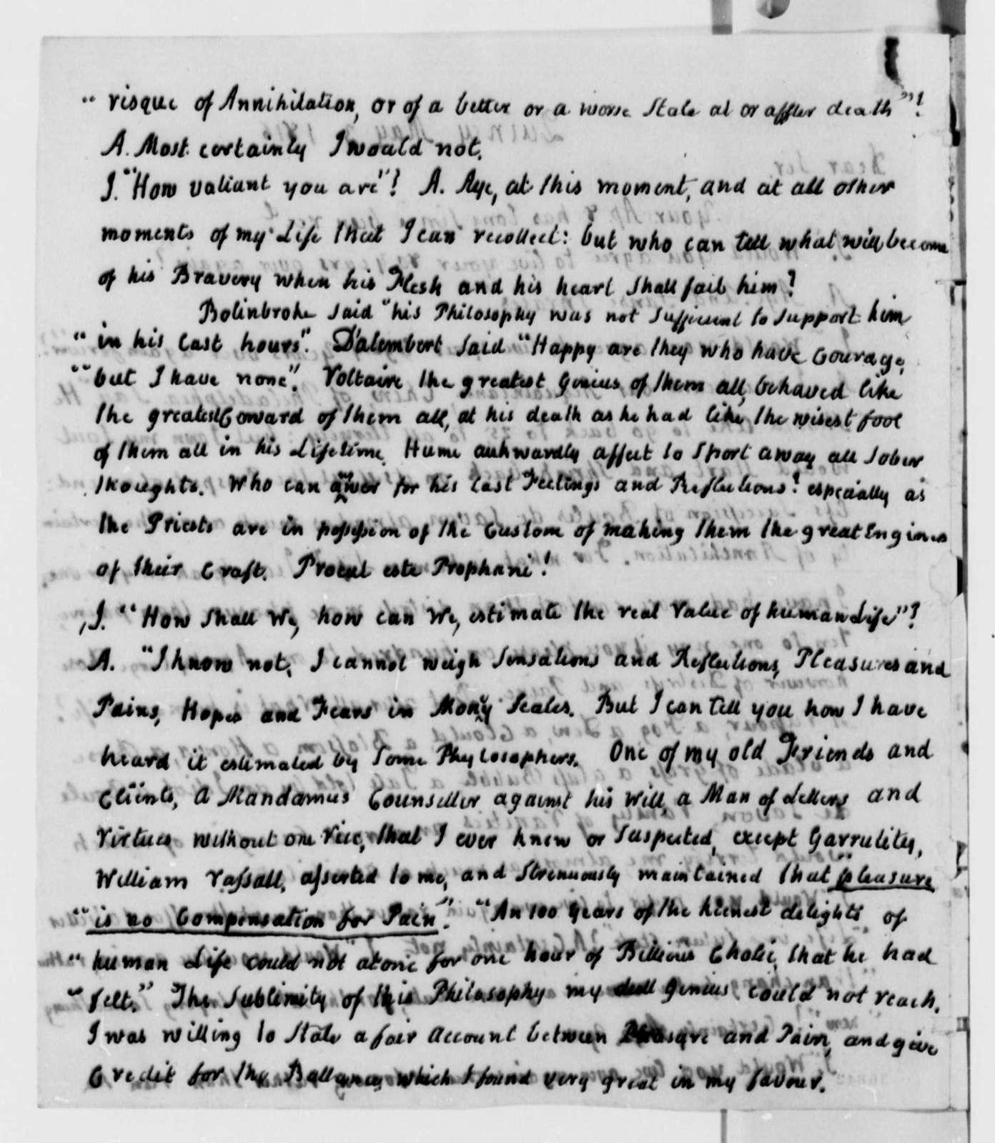 John Adams to Thomas Jefferson, May 3, 1816