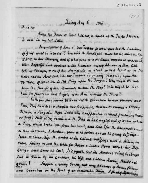 John Adams to Thomas Jefferson, May 6, 1816