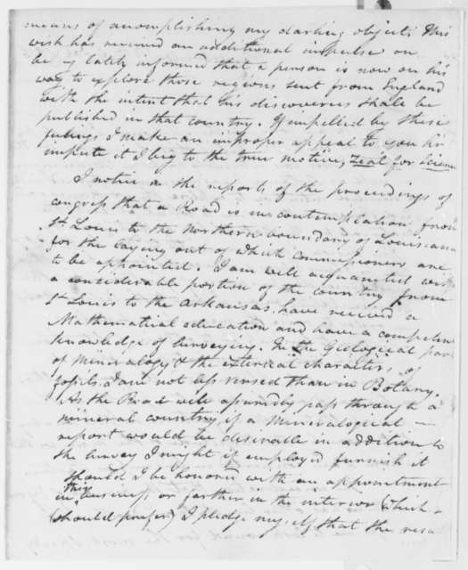 John Bradbury to Thomas Jefferson, January 9, 1816