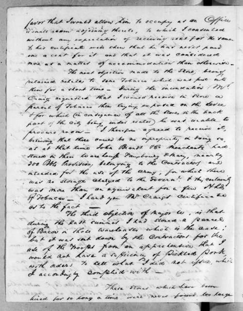 John Brandt to Andrew Jackson, July 3, 1816