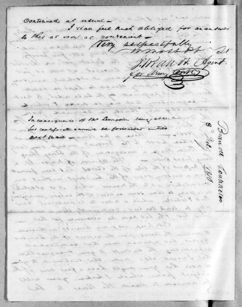 John Brandt to Andrew Jackson, July 3, 1816