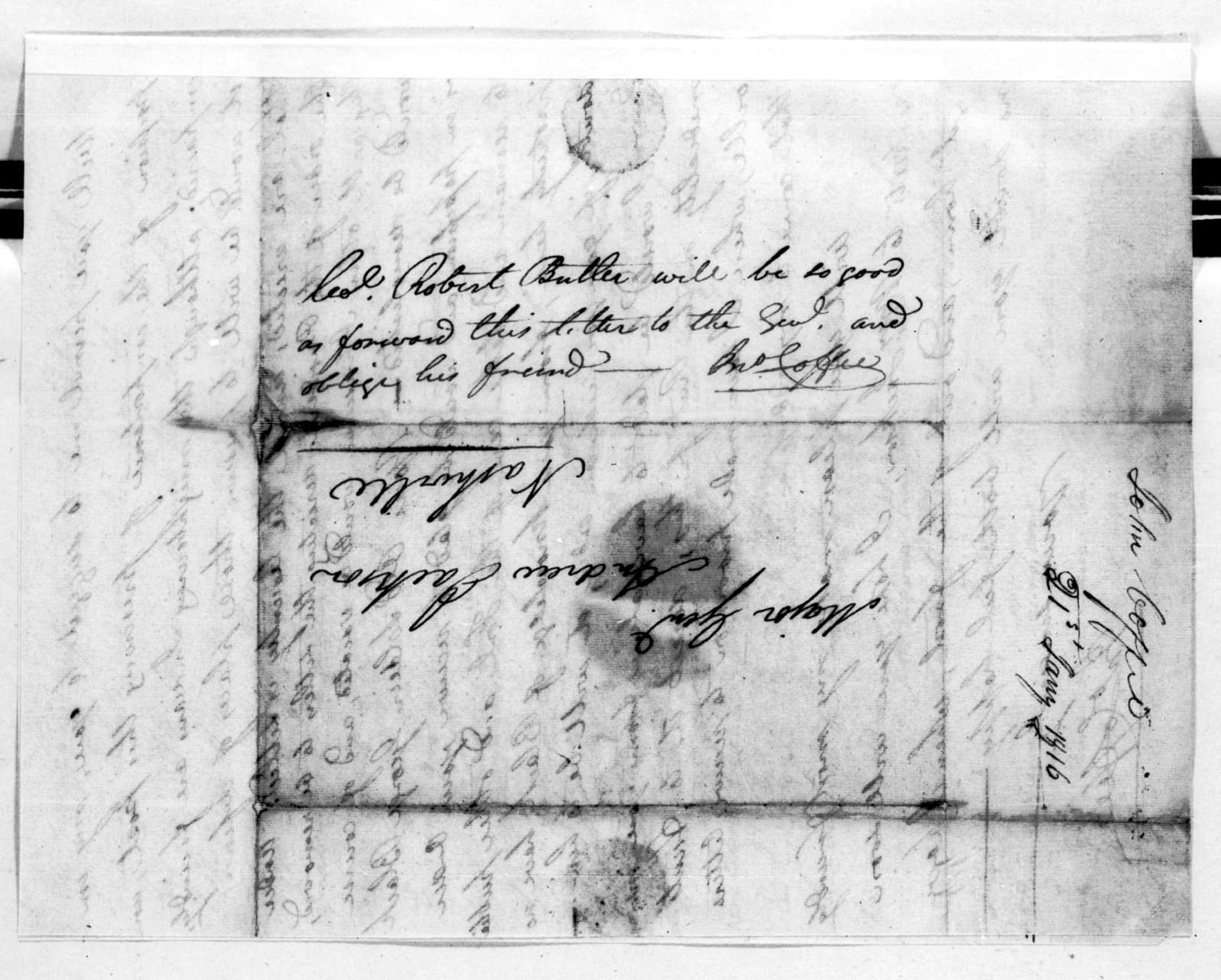 John Coffee to Andrew Jackson, January 21, 1816