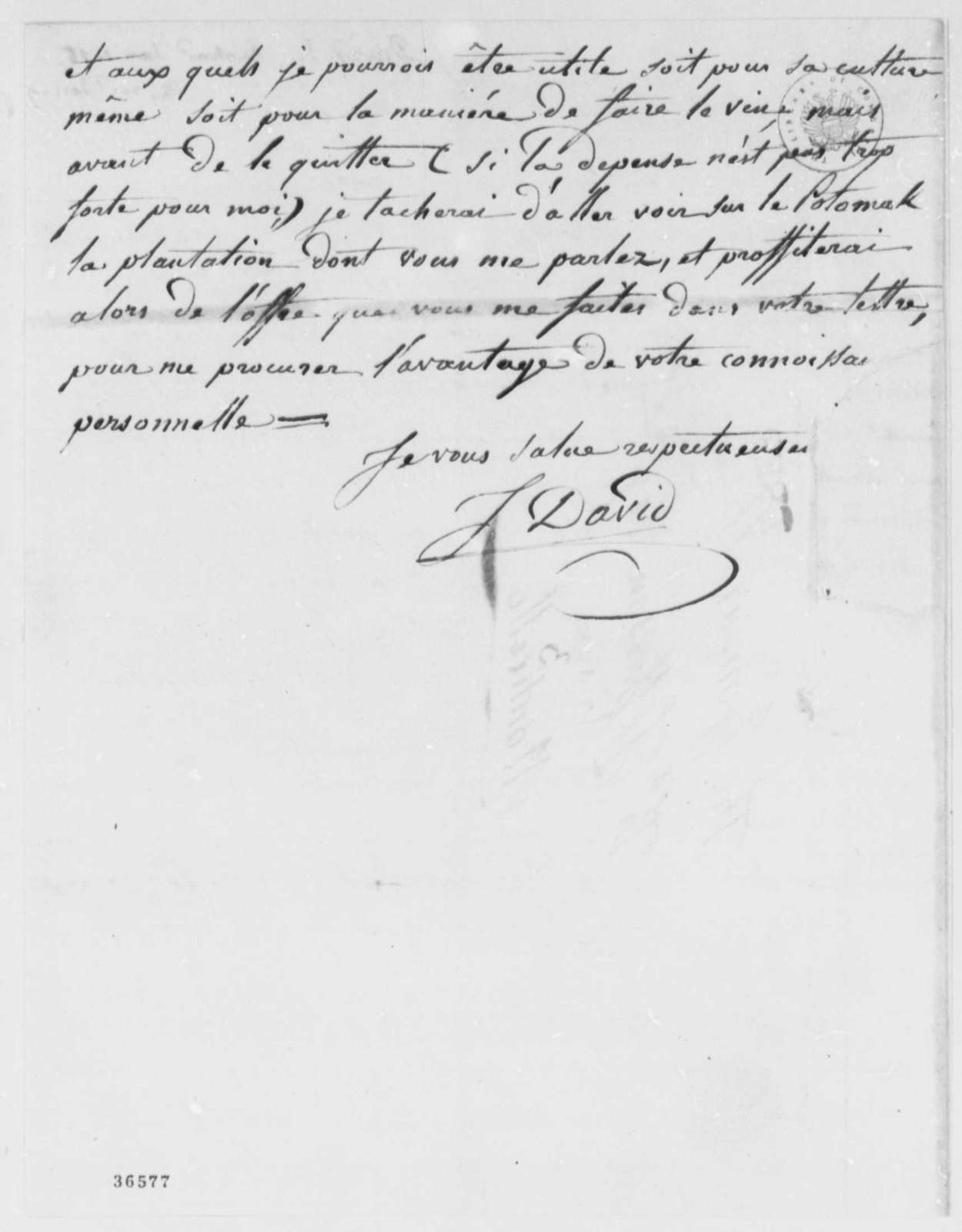 John David to Thomas Jefferson, January 1, 1816