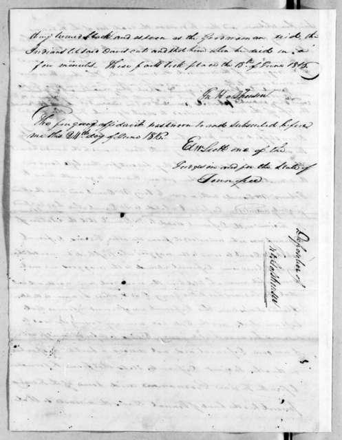 John Holshousen, June 24, 1816