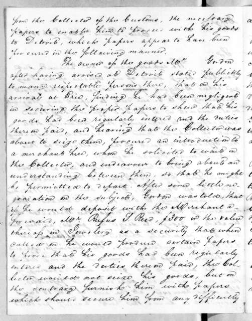 John Kelso to Alexander James Dallas, August 26, 1816