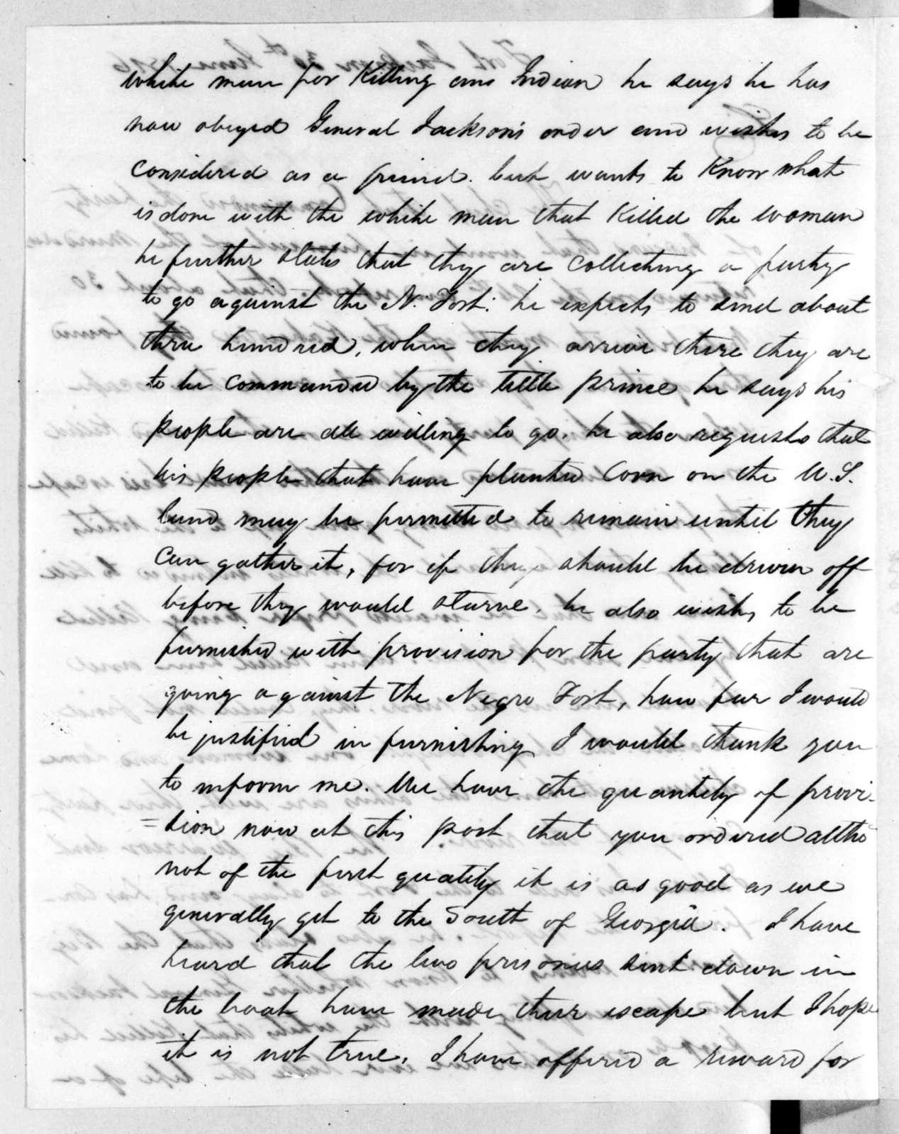 John Machesney to Edmund Pendleton Gaines, June 30, 1816
