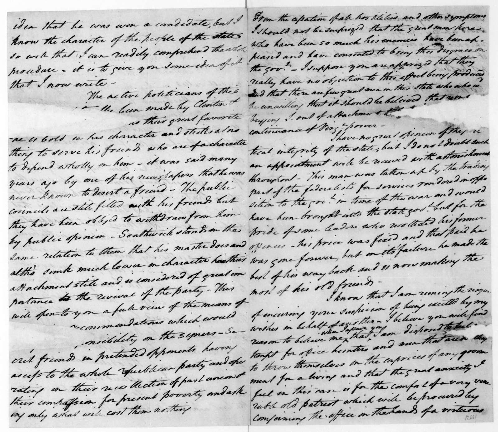 John Nicholas to James Madison, May 20, 1816.